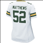 Ladeies Matthews Nike White Game Jersey