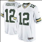 Rodgers Limited White Nike Jersey