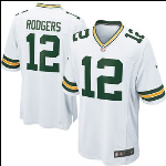 Rodgers Nike White Game Jersey