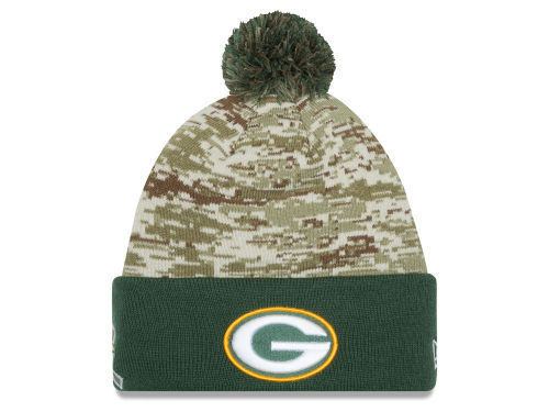 769400e6d Green Bay Packers 2015 Salute To Service Knit Hat